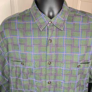 PATAGONIA Men's Plaid Flannel L/S Shirt Sz LG